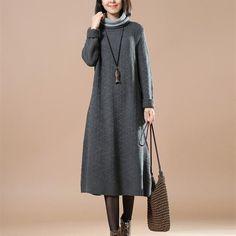 Women Casual Loose Cotton Knitting Sweater