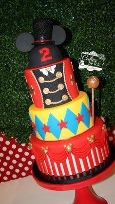 Mickey circus inspired cake