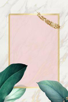 Rectangle foliage frame on white marble background vector | premium image by rawpixel.com / Adj Framed Wallpaper, Wallpaper Backgrounds, Iphone Wallpaper, Wallpapers, Molduras Vintage, Flower Frame, White Marble, Green Marble, Background Patterns