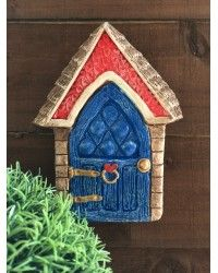 Blue & Red fairy cottage door