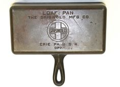 GRISWOLD CAST IRON LOAF PAN PART NUMBER 877 VERY NICE PIECE! VINTAGE BREAD PAN!!!