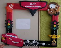 Car Themed Parties, Cars Birthday Parties, Birthday Party Decorations, Race Car Party, Race Car Birthday, Baby Birthday, Piñata Cars, Cars Fiesta, Lightning Mcqueen Party