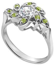 LOVE!!!  Peridot and diamonds... Beautiful!
