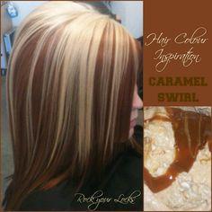 Caramel Swirl Hair Colour Inspiration