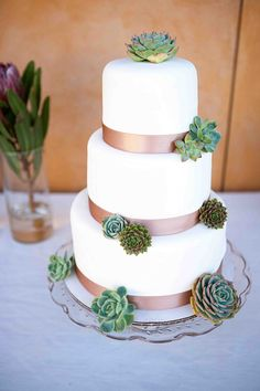 Gluten Free and Dairy Free Succulent Wedding Cake by Crave Bakery Keywords: #glutenfreeweddingfoods #jevelweddingplanning Follow Us: www.jevelweddingplanning.com www.facebook.com/jevelweddingplanning/