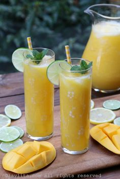 Refresco de mango y limon