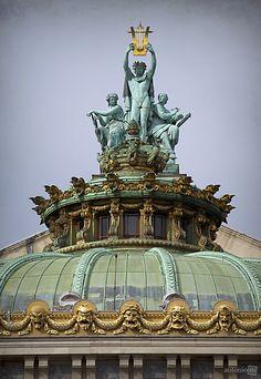 ritahaarmann:  Apollo, Poetry and Music,sculptor: Aimé MilletPalais Garnier, Paris