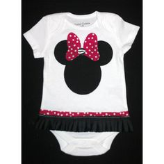 red minnie mouse polka dot material | Red Polka Dot Minnie Mouse Onesie - Polyvore