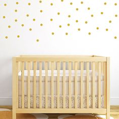 Gold polka dot wall decals (set of 120)  Size available in 1, 2 or 3 Our polka dot stickers can be made in any of our 32 colors available (see