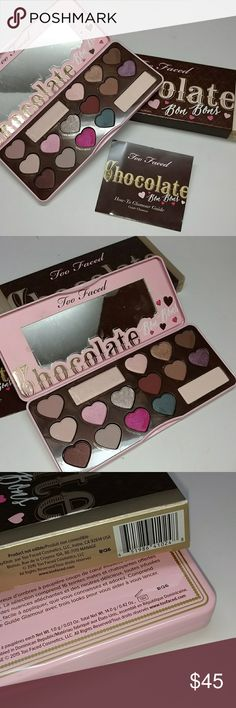 Too Faced Chocolate Bon Bons Palette Authentic Too Faced chocolate Bon Bons eye shadow palette. Yummy smelling candy coated confections. New with box. Copy of original invoice available if requested when purchased. Same day shipping !No trades. Thank you Sephora Makeup Eyeshadow