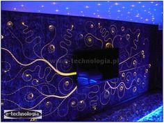 Zestaw Ściany Świecące świetlna ściana w pokoju