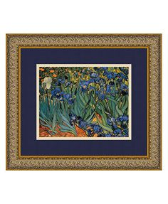 'Les Irises (Irises)' Framed Art by Vincent van Gogh