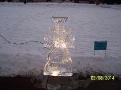ice cross with snow flake in middle