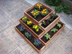Flower Planter, Vegetable Planter, 23 Inch X 23 X 15 Inch Tall, 5 Sections Fit…
