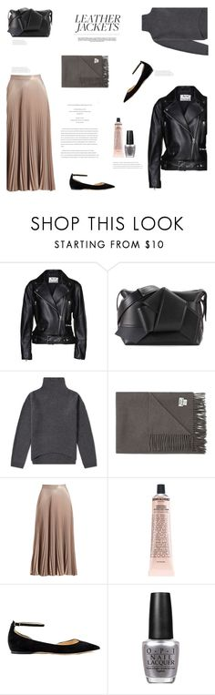"""LEATHER JACKET"" by canvas-moods ❤ liked on Polyvore featuring Acne Studios, A.L.C., Grown Alchemist, Jimmy Choo, OPI, Whiteley, modern, leatherjackets, acnestudios and citystyle"