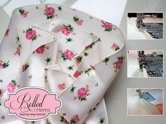 A Romantic Bedroom Retreat with Rowan & FreeSpirit Fabrics: How To Make a Rolled Hem With Your Sewing Machine   Sew4Home