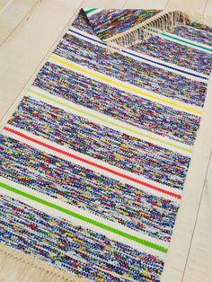 Loom Weaving, Bath Rugs, Scandinavian Style, Pattern Design, Knitting, Crochet, Home Decor, Weaving, Loom