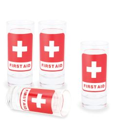 'Thirst Aid' Shot Glass Set