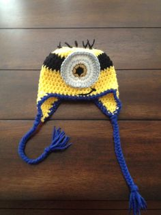 Despicable Me minion hat w/ ear flaps Nb-child $15 Teen-adult $20