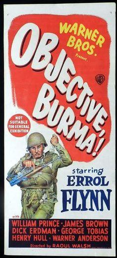 1945 western movie poster | BURMA 1945 Errol Flynn Original Australian Daybill Movie poster ...