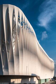 Gallery of Liverpool Facade / Iñaki Echeverria - 12 - Liverpool Villahermosa / Iñaki Echeverria Concrete facade … - Architecture Design, Installation Architecture, Parametric Architecture, Organic Architecture, Facade Design, Futuristic Architecture, Beautiful Architecture, Contemporary Architecture, Landscape Architecture