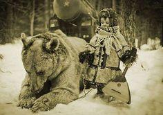 Тополь М, медведь, ребенок, балалайка