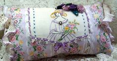 Pillow  Southern Belle  Shades of mauve purple  by rosesandwhimsey, $40.00