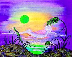 Sparkling Sunset Canvas Print / Canvas Art by Alex Art and Photo Dark Power, Got Print, Canvas Material, Canvas Art Prints, Fine Art America, Greeting Cards, My Arts, Sparkle, Sunset