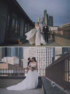 Lindsay is ravishing wearing Sophia Tolli Maeve - Style Y11652 - a lace sheath wedding dress with detachable tulle skirt