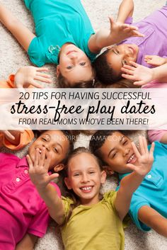 20 Tips for Stress-Free Successful Play Dates - From Real Moms Who've Been There - at B-InspiredMama.com #kids #parenting #kbn