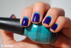love this idea of a backwards french tip...with color of course