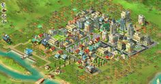 Rising Cities : Screenshot ~ Free game fun for urban developers! Build your very own city.