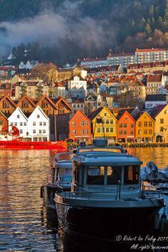Bergen winters morning, Norway by FreeBirdUK