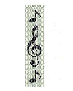 81beae7a1191bed5b5a96a3ff4f817bf.jpg (570×707) 2-drop peyote clef pattern g-clef beading pattern