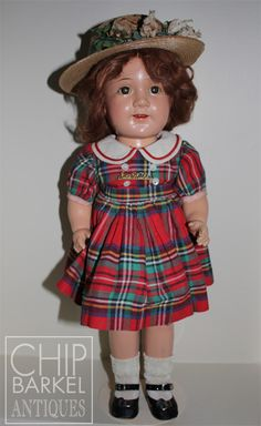 "17"" Madame Alexander Jane Withers with cloth body and signature pin"