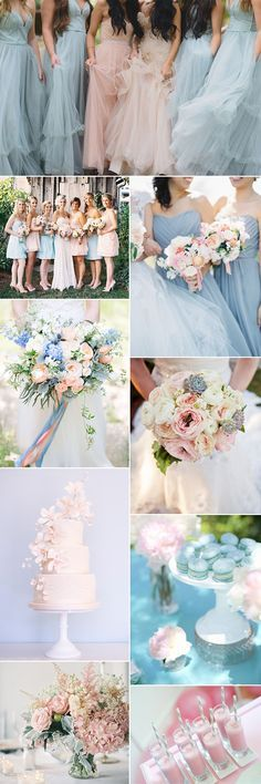 Pantone has chosen two colors for 2016: Rose quartz and serenity. We show you how these colors work perfectly for a pastel wedding theme
