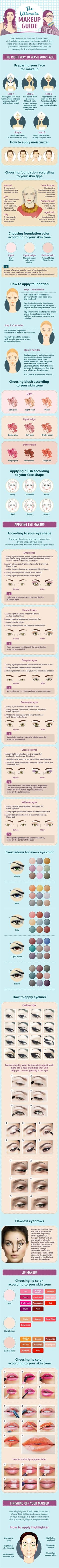Best Makeup Tutorials for Teens -The Ultimate Makeup Guide You Can't Live Without - Easy Makeup Ideas for Beginners - Step by Step Tutorials for Foundation, Eye Shadow, Lipstick, Cheeks, Contour, Eyebrows and Eyes - Awesome Makeup Hacks and Tips for Simple DIY Beauty - Day and Evening Looks http://diyprojectsforteens.com/makeup-tutorials-teens
