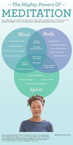 Meditation has many health benefits. Great for the mentally ill.
