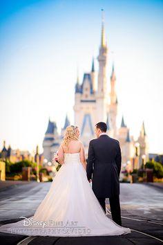 Newlyweds take a magical walk down Main Street, U.S.A.