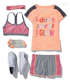 Trendy sport outfit for girls christmas gifts Dance Outfits, Sport Outfits, Kids Outfits, Summer Outfits, Cute Outfits, Summer Clothes, School Outfits, Justice Girls Clothes, Justice Clothing