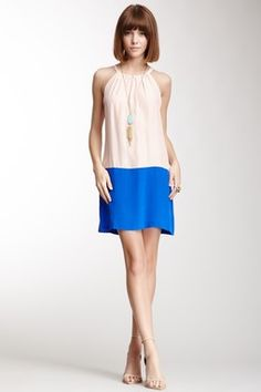 Joan Colorblock Silk Dress on HauteLook
