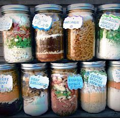 Meals in a jar. Just add boiling watet. Meals will last 5yrs without refrigeration.