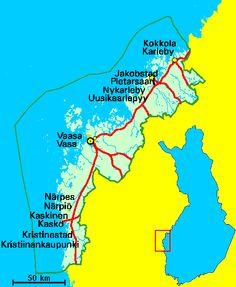 Svenska Österbottens Biodlare r.f. www.multi.fi -  karta över Österbotten och Finland