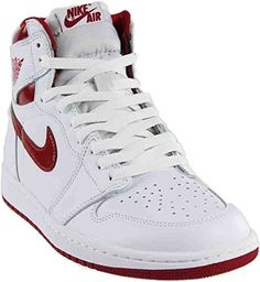 Nike Men s Air Jordan 1 Retro High OG White VarsityRed 555088-103 (SIZE  14) 7a20c4683