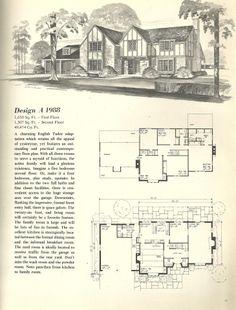 Home plans on pinterest home plans tudor and art deco house for Classic tudor house plans