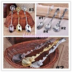 Online Cheap Vintage Alloy Shells Coffee Spoon Crown Palace Carved Tea Ice Cream Scoop Dessert Spoons Cutlery 4styles By Smiledeal108   Dhgate.Com
