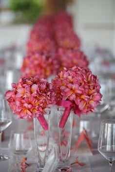 Pink Frangipani - table centerpiece by Tirtha Bridal Uluwatu Bali