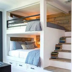 49 Easy and Cute Teen Room Decor Ideas for Girl - GODIYGO.COM , Elegant bunk beds are hard to locate in a globe loaded with amazing furniture options.Discover our Space-Saving Bunk Beds For Your Home to assist you . Bunk Beds Small Room, Bunk Beds Built In, Modern Bunk Beds, Bunk Beds With Stairs, Kids Bunk Beds, Small Room Bedroom, Small Rooms, Loft Beds, Bed Rooms