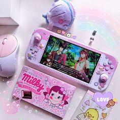 Nintendo Switch Case, Nintendo Switch System, Pink Aesthetic, Aesthetic Anime, Tout Rose, Nintendo Switch Accessories, Shabby Chic Painting, Otaku Room, Pastel Room