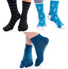 V-Toe Tabi Flip Flop Socks - Blue Variety (3 Pack)